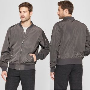 Men's Goodfellow Matte Bomber Jacket In Gray